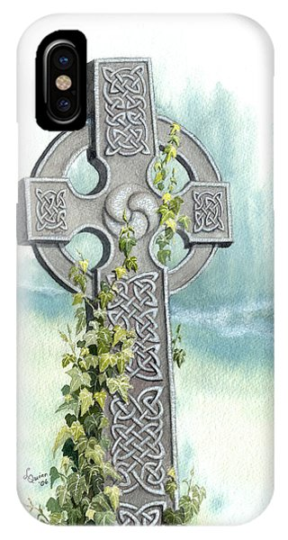 Celtic Cross With Ivy II IPhone Case