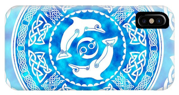 Celtic Dolphins IPhone Case