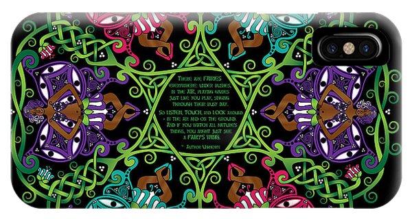 Celtic Fairy Mandala IPhone Case