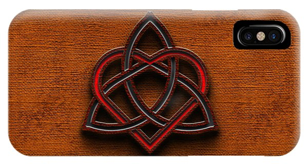 Celtic Knotwork Valentine Heart Canvas Texture 1 Horizontal IPhone Case