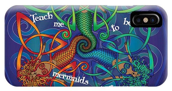 Celtic Mermaid Mandala IPhone Case