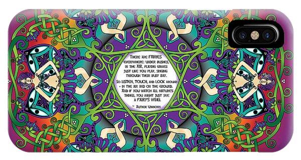 Celtic Spring Fairy Mandala IPhone Case