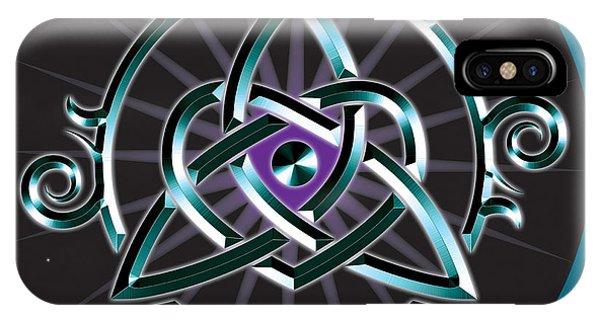 Celtic Triquetra Heart IPhone Case