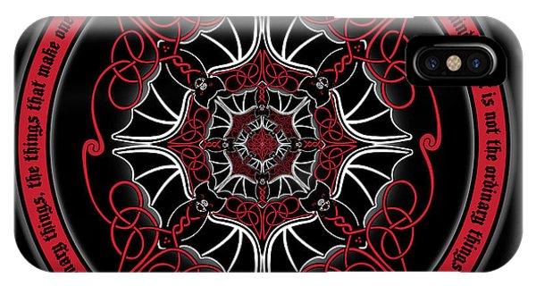Celtic Vampire Bat Mandala IPhone Case