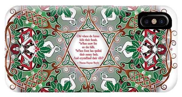 Celtic Winter Fairy Mandala IPhone Case