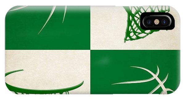 Celtics iPhone Case - Celtics Ball And Hoop by Joe Hamilton