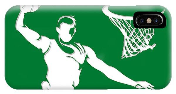 Celtics iPhone Case - Celtics Shadow Player1 by Joe Hamilton