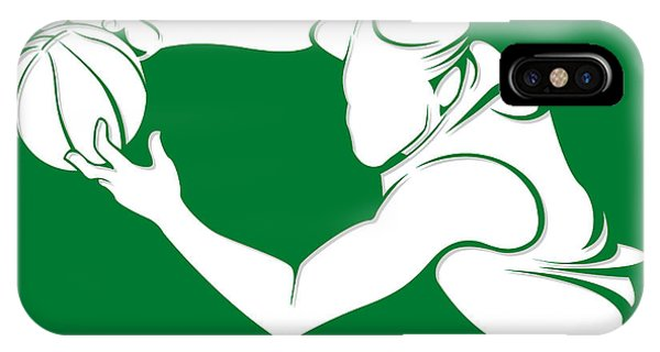 Celtics iPhone Case - Celtics Shadow Player2 by Joe Hamilton