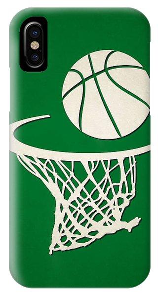 Celtics iPhone Case - Celtics Team Hoop2 by Joe Hamilton