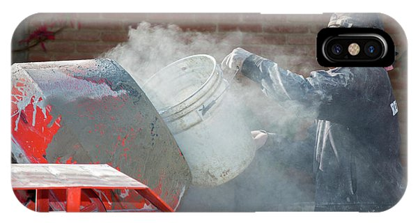 Cement iPhone Case - Cement Mixing For Road-building by Jim West