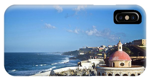 Oceanfront iPhone Case - Cemetery And La Perla From El Morro by Miva Stock