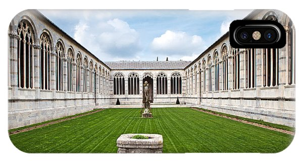 Cemetery At Cathedral Square In Pisa Italy Phone Case by Susan Schmitz