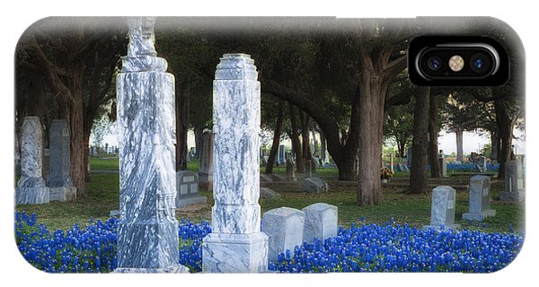 Cemetery Bluebonnets IPhone Case