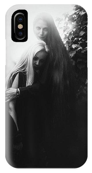 Hair iPhone Case - Cemetery by Velizar Ivanov