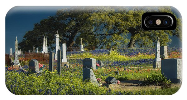 Cemetery Wildflowers IPhone Case