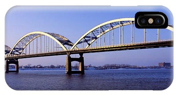 Centennial Bridge iPhone Case - Centennial Bridge, Iowa, Illinois, Usa by Panoramic Images