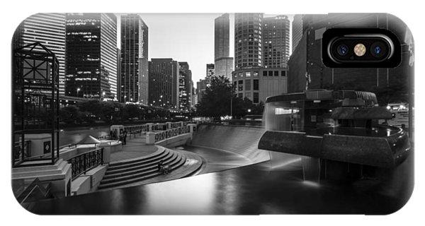 Centennial Bridge iPhone Case - Centennial Fountain In Black And White by Sven Brogren