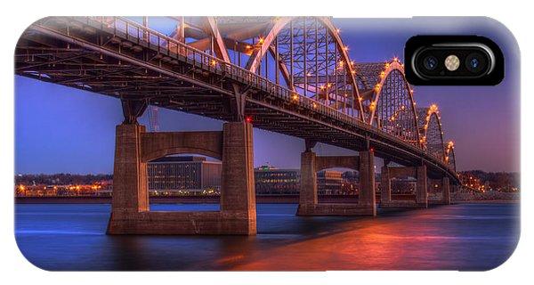 Centennial Bridge iPhone Case - Centennial Reflections by Tom Weisbrook