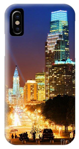 Center City Philadelphia Night IPhone Case