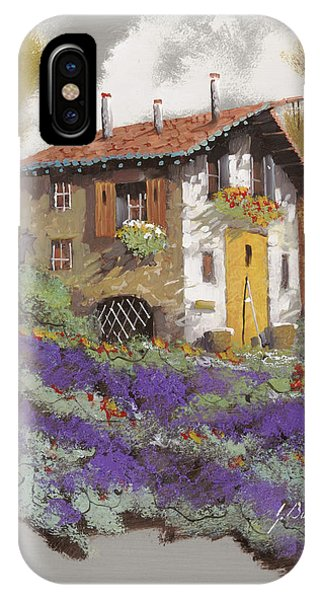Old Houses iPhone Case - Cento Lavande by Guido Borelli