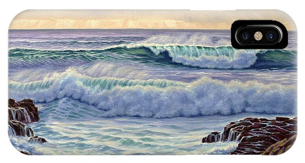 Rocky iPhone Case - Central Pacific Surf by Paul Krapf