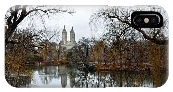 Central Park And San Remo Building In The Background IPhone Case