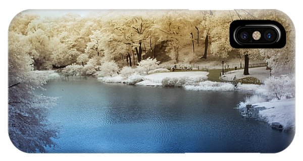 Central Park Lake Infrared IPhone Case
