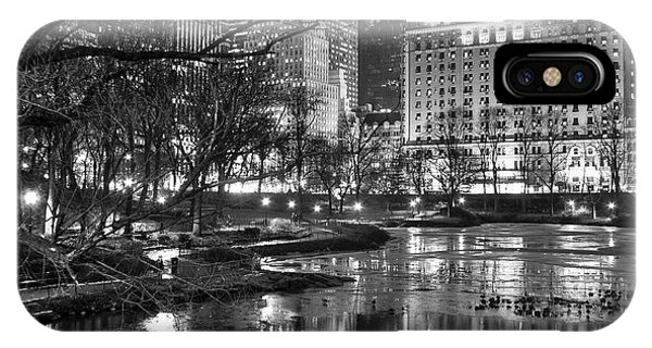 Central Park Lake Night IPhone Case