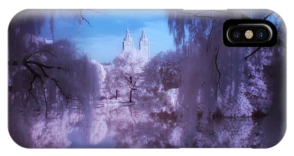 Central Park Lake Willows Color IPhone Case
