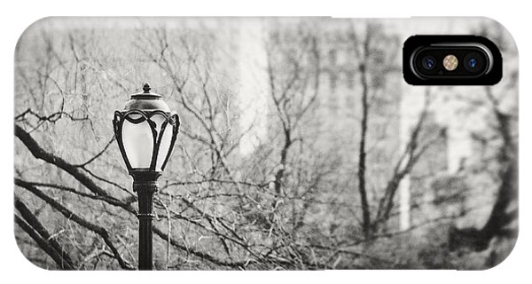 Central Park Lamppost In New York City IPhone Case