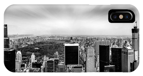 Empire iPhone Case - Central Park Perspective by Az Jackson