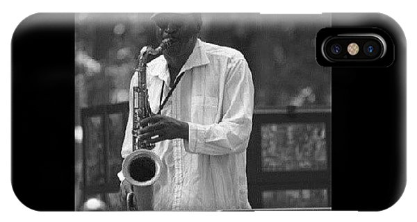 Celebrity iPhone Case - Central Park Sax by Aaron Kremer