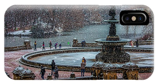 Central Park Snow Storm IPhone Case