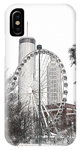 Centennial Park Atlanta  Ga IPhone Case