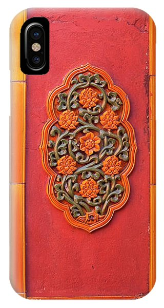Forbidden City iPhone Case - Ceramic Flowers Yellow Wall Gugong by William Perry