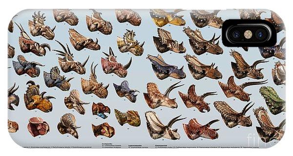 Horn iPhone Case - Ceratopsian Cornucopia by Julius Csotonyi