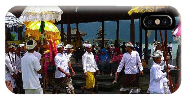 Ceremony At Lake Beratan Bali IPhone Case