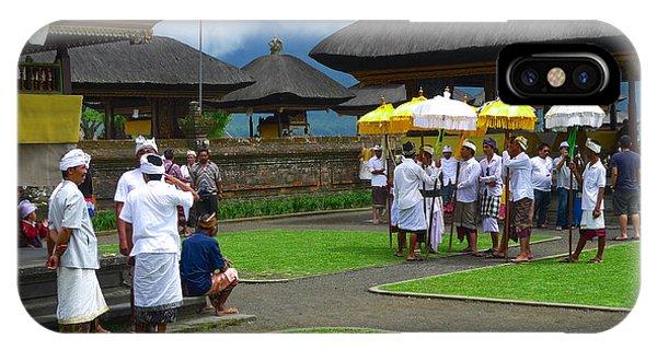 Ceremony Gathering At Beratan Bali IPhone Case