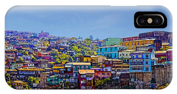 Cerro Artilleria Valparaiso Chile IPhone Case