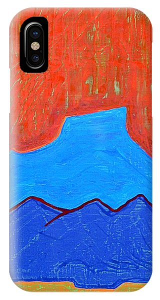 Cerro Pedernal Original Painting Sold IPhone Case