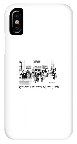 Certainly.  A Party Of Four At Seven-thirty IPhone Case
