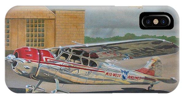 In Flight iPhone Case - Cessna 195 by Stuart Swartz