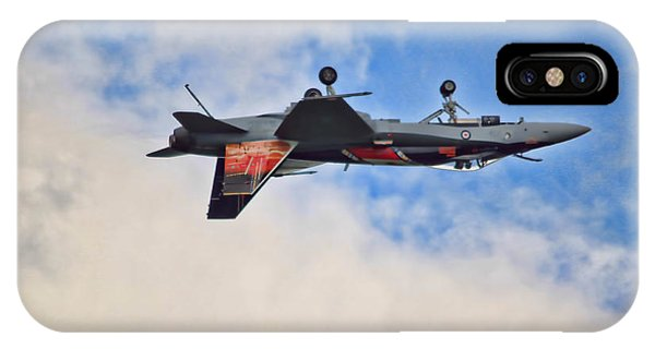 Cf18 Hornet Upside Down Fly By  IPhone Case