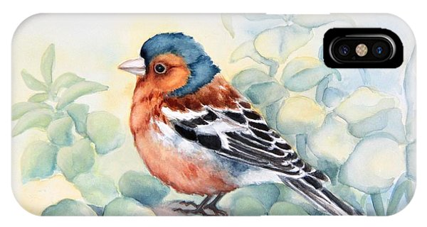 Chaffinch In Grass IPhone Case