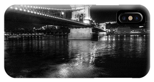 Chain Bridge Danube River IPhone Case