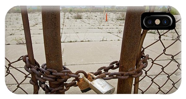 Chained And Padlocked Gate Phone Case by Jim West