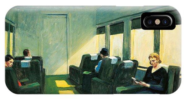 Train iPhone Case - Chair Car by Edward Hopper