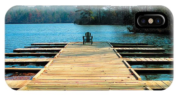 Chair On Dock By Jan Marvin IPhone Case
