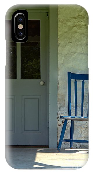 Porches iPhone Case - Chair On Farmhouse Porch by Olivier Le Queinec