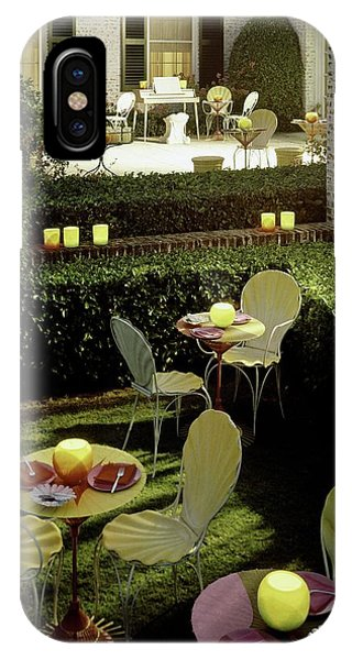 Chairs And Tables In A Garden IPhone Case